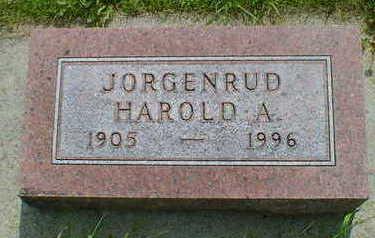 JORGENRUD, HAROLD A. - Cerro Gordo County, Iowa   HAROLD A. JORGENRUD