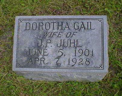 JUHL, DOROTHEA GAIL - Cerro Gordo County, Iowa | DOROTHEA GAIL JUHL