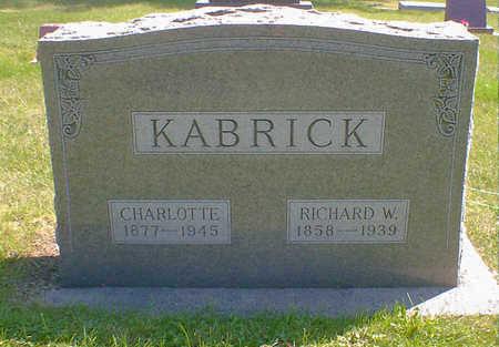 KABRICK, CHARLOTTE - Cerro Gordo County, Iowa   CHARLOTTE KABRICK