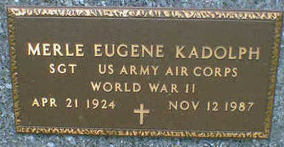 KADOLPH, MERLE EUGENE - Cerro Gordo County, Iowa | MERLE EUGENE KADOLPH