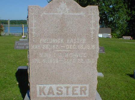 KASTER, MINNIE A. - Cerro Gordo County, Iowa   MINNIE A. KASTER