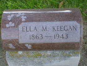 KEEGAN, ELLA M. - Cerro Gordo County, Iowa   ELLA M. KEEGAN