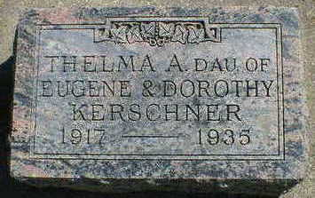 KERSCHNER, THELMA A. - Cerro Gordo County, Iowa | THELMA A. KERSCHNER