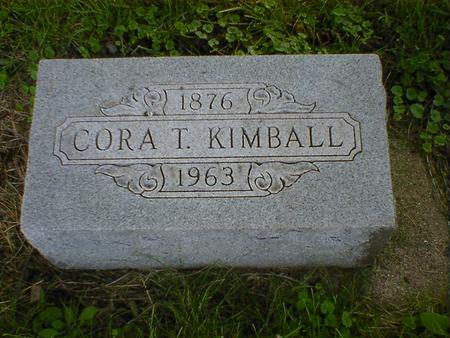 KIMBALL, CORA T. - Cerro Gordo County, Iowa | CORA T. KIMBALL