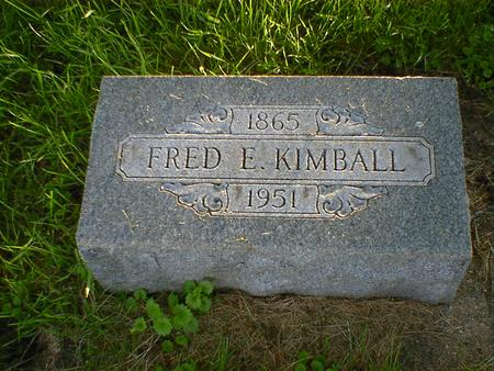 KIMBALL, FRED E. - Cerro Gordo County, Iowa | FRED E. KIMBALL