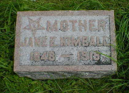 KIMBALL, JANE E. - Cerro Gordo County, Iowa   JANE E. KIMBALL