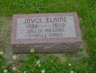 KIMBLE, JOYCE ELAINE - Cerro Gordo County, Iowa | JOYCE ELAINE KIMBLE