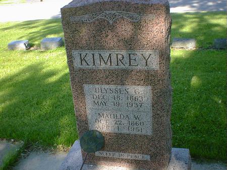 KIMREY, MATILDA W. - Cerro Gordo County, Iowa | MATILDA W. KIMREY