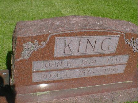 KING, ROSE E. - Cerro Gordo County, Iowa   ROSE E. KING