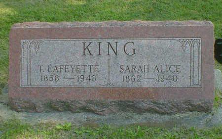 KING, SARAH ALICE - Cerro Gordo County, Iowa | SARAH ALICE KING