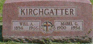KIRCHGATTER, WILL A. - Cerro Gordo County, Iowa   WILL A. KIRCHGATTER