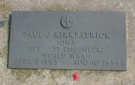 KIRKPATRICK, PAUL J. - Cerro Gordo County, Iowa | PAUL J. KIRKPATRICK