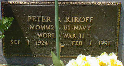 KIROFF, PETER A. - Cerro Gordo County, Iowa   PETER A. KIROFF