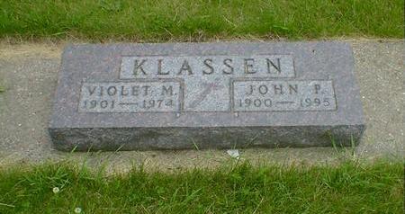 KLASSEN, JOHN P. - Cerro Gordo County, Iowa | JOHN P. KLASSEN
