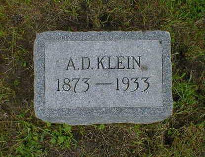 KLEIN, A. D. - Cerro Gordo County, Iowa   A. D. KLEIN