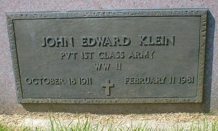 KLEIN, JOHN EDWARD - Cerro Gordo County, Iowa   JOHN EDWARD KLEIN