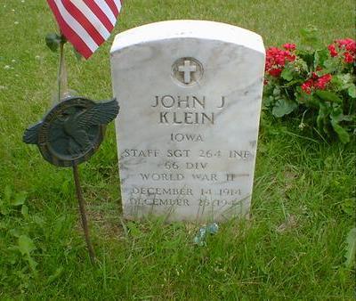 KLEIN, JOHN J. - Cerro Gordo County, Iowa | JOHN J. KLEIN