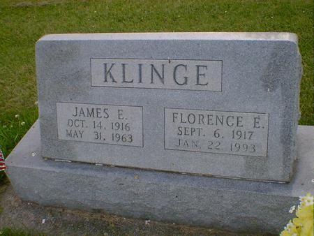 KLINGE, FLORENCE E. - Cerro Gordo County, Iowa   FLORENCE E. KLINGE