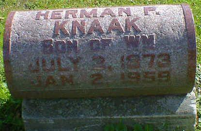 KNAAK, HERMAN P. - Cerro Gordo County, Iowa   HERMAN P. KNAAK