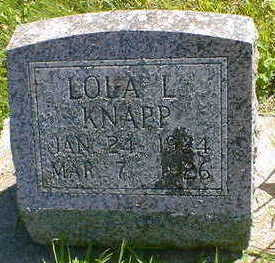 KNAPP, LOLA L. - Cerro Gordo County, Iowa | LOLA L. KNAPP