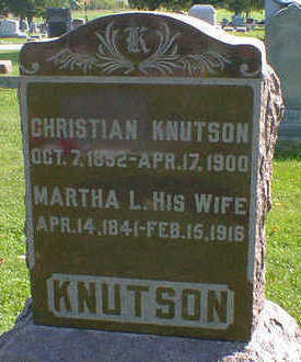 KNUTSON, MARTHA L. - Cerro Gordo County, Iowa | MARTHA L. KNUTSON