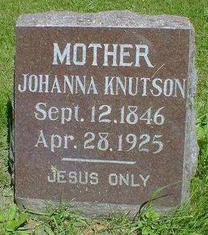 KNUTSON, JOHANNA - Cerro Gordo County, Iowa   JOHANNA KNUTSON