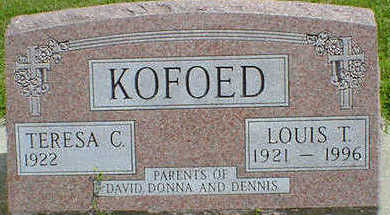 KOFOED, LOUIS THEODORE - Cerro Gordo County, Iowa   LOUIS THEODORE KOFOED