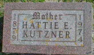 KUTZNER, HATTIE E. - Cerro Gordo County, Iowa | HATTIE E. KUTZNER