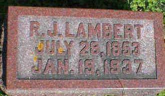 LAMBERT, R.J. - Cerro Gordo County, Iowa   R.J. LAMBERT