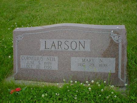 LARSON, CORNELIUS NEIL - Cerro Gordo County, Iowa | CORNELIUS NEIL LARSON