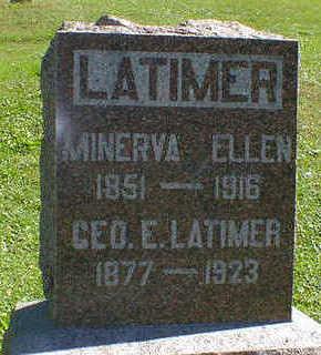LATIMER, MINERVA ELLEN - Cerro Gordo County, Iowa | MINERVA ELLEN LATIMER