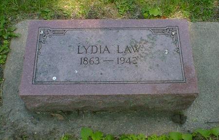 LAW, LYDIA - Cerro Gordo County, Iowa   LYDIA LAW