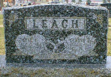 LEACH, GLADYS R. - Cerro Gordo County, Iowa   GLADYS R. LEACH