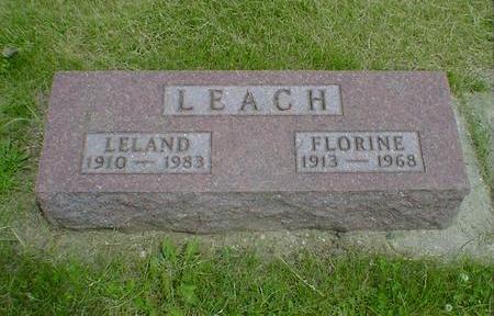LEACH, FLORINE - Cerro Gordo County, Iowa | FLORINE LEACH