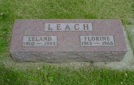 LEACH, LELAND - Cerro Gordo County, Iowa | LELAND LEACH