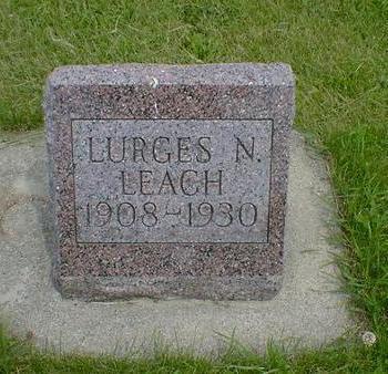 LEACH, LURGES N. - Cerro Gordo County, Iowa   LURGES N. LEACH