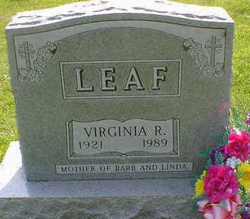 LEAF, VIRGINIA R. - Cerro Gordo County, Iowa | VIRGINIA R. LEAF