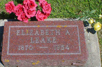 LEAKE, ELIZABETH A. - Cerro Gordo County, Iowa | ELIZABETH A. LEAKE
