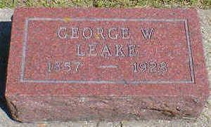 LEAKE, GEORGE W. - Cerro Gordo County, Iowa   GEORGE W. LEAKE