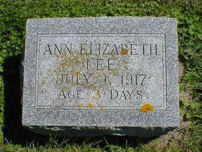 LEE, ANN ELIZABETH - Cerro Gordo County, Iowa | ANN ELIZABETH LEE