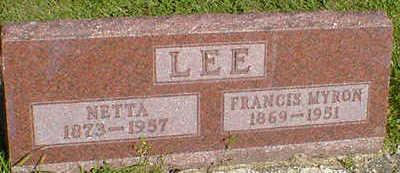 LEE, FRANCIS MYRON - Cerro Gordo County, Iowa | FRANCIS MYRON LEE