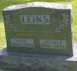 LEINS, GEORGE - Cerro Gordo County, Iowa | GEORGE LEINS