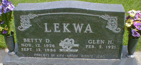 LEKWA, BETTY D. - Cerro Gordo County, Iowa | BETTY D. LEKWA