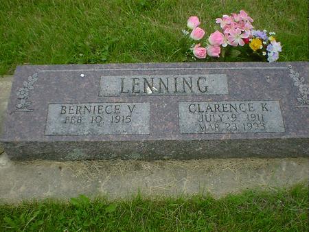 LENNING, CLARENCE K. - Cerro Gordo County, Iowa | CLARENCE K. LENNING