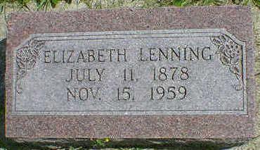 LENNING, ELIZABETH - Cerro Gordo County, Iowa   ELIZABETH LENNING