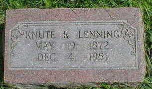 LENNING, KNUTE K. - Cerro Gordo County, Iowa | KNUTE K. LENNING