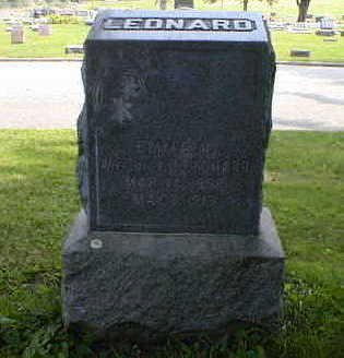 LEONARD, EMMA A. - Cerro Gordo County, Iowa   EMMA A. LEONARD