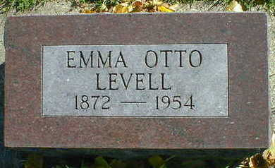 OTTO LEVELL, EMMA - Cerro Gordo County, Iowa | EMMA OTTO LEVELL