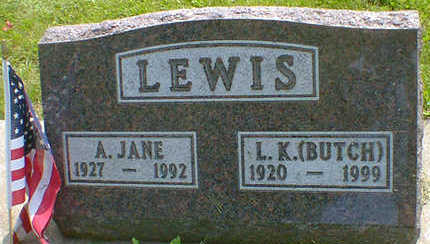 LEWIS, A. JANE - Cerro Gordo County, Iowa | A. JANE LEWIS