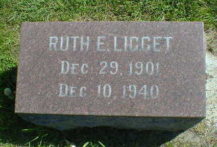 LIGGET, RUTH E. - Cerro Gordo County, Iowa   RUTH E. LIGGET